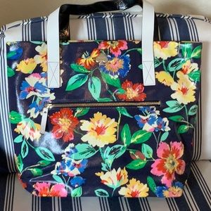 Kate Spade floral pvc style tote